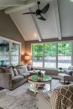 Search photos of sunroom designs and also decoration. Discover ideas for your four periods area enhancement, consisting of inspiration for sunroom decorating as well as formats. Sunroom Decorating, Sunroom Ideas, Decorating Ideas, Porch Ideas, Decor Ideas, Sunroom Kits, Four Seasons Room, Three Season Porch, Three Season Room