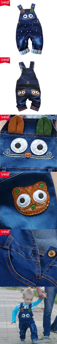 Brand 2016 Autumn Baby Rompers Animal Baby Boy Girl Jeans Jumpsuit High Quality Denim Overalls Infant Clothing Baby Clothes 0-2Y