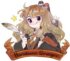 Hermione Granger Drawing, Hermione Fan Art, Harry Potter Artwork, Harry Potter Anime, Character Art, Character Design, Character Ideas, Cecile, Cartoon Drawings