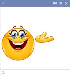 This cheerful smiley would be delighted to help call attention to your FB post.