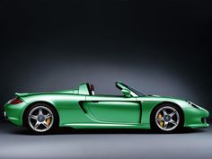 Green Porsche Carrera GT | More colourful lusciousness here: http://mylusciouslife.com/photo-galleries/a-colourful-life-colours-patterns-and-textiles/
