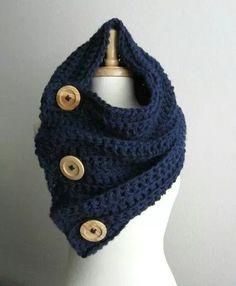 hermosas bufandas tipo cuello tejidas en varios colores