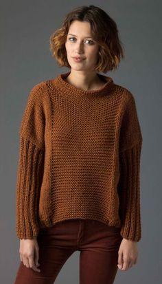 Knitulator sucht #EinfacheSchnitte: #4x4Pullover #Musterpullover #Pullover #Sweater #stricken #Strickapp kostenlose Anleitungen und mehr Ideen www.Knitulator.com