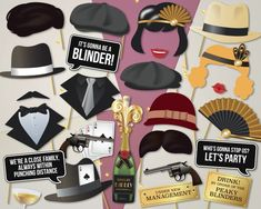 Peaky blinders props - prohibition photo booth props - roaring twenties - g