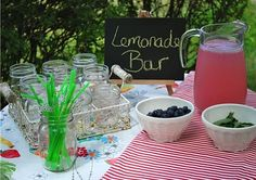 great idea for outdoor b'day parties!