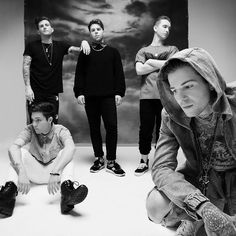 The Neighbourhood: (left to right) Zach Abels-guitarist,  Brandon Fried- drummer, Jeremy Freedman - guitarist,     Mikey Margot- bassist, Jesse Rutherford- vocalist