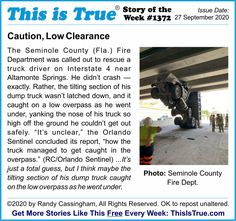 "This is True's Story of the Week. The question is, who is dumber: the driver, or the Orlando Sentinel and their ""unclear"" statement? (I know MY vote!) Weird But True, So True, I Voted, Thought Provoking, I Know, True Stories, Entertaining, Thoughts"