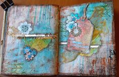 Look For Flowers in Unexpected Places Art Journal Page