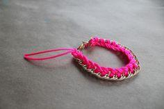 DIY Jewelry DIY Bracelet DIY neon and gold fashion bracelet