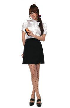 成瀬瑛美 Naruse Eimi - Dempagumi.inc / でんぱ組.inc - Tokimeki Graffiti -トキメキグラフティ | コスプレ★「ガールズティーチャーグラフィティ」★コスプレ衣装だよ! Skirt Outfits, Sexy Outfits, Asian Woman, Asian Girl, French Maid Costume, Polka Dot Tights, Tights Outfit, Cute Fashion, Pretty Woman