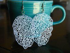 silver leaf filigree earrings    #happylittlelovelies