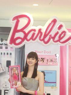 ノンノ/nonno @nonno_staff  5月19日 今日は優愛がイメージモデルをつとめるBarbie×プリントシール機 「Barbie  Your Doll」の発表会へ♡ ※優愛が持っているBarbie Your Doll オリジナルドールボックスは非売品です。©︎ Mattel.