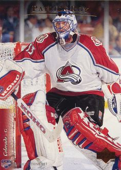 Patrick Roy-- Can't wait to watch him coach this fall Nhl Hockey Teams, Hockey Goalie, Ice Hockey, Snowboard, Patrick Roy, Surf, Hockey Boards, Hockey World, Goalie Mask