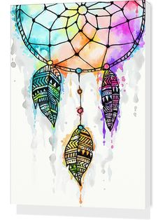 Dreamcatcher watercolor painting by Madotta | Nuvango