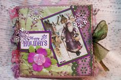 Christmas Paper Bag Card (Front) - Scrapbook.com I love brown paper bag, endless Vintage inspired possabilities!