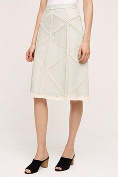 Choteau Leather Skirt - anthropologie.com