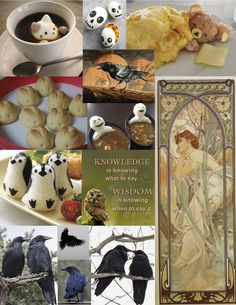 food, art deco & black birds