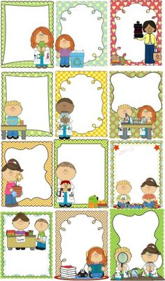 RECURSOS PARA PROFESORES Classroom Helpers, Classroom Labels, Classroom Rules, Classroom Decor, English Activities, Preschool Activities, Borders For Paper, Class Decoration, Binder Covers
