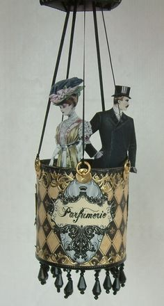 Artfully Musing: Parfumerie Hot Air Balloon I just LOVE this! Cant wait to make one