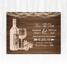 Amazing Winery Save The Date Magnet DIY Vineyard Save The Date Wine Save The Date  Wood Winery Wedding Save The Date Wine Bottle Save The Date