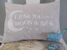 Hey, I found this really awesome Etsy listing at https://www.etsy.com/listing/220092866/stenciled-pillow-cover-baby-love-i-love