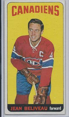 1964-65 TOPPS # 33 JEAN BELIVEAU,  Montrel Canadiens NM+ #MontrealCanadiens