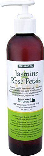Jasmine Rose Petals Massage Oil  Body Oil 8 fl oz Pump * You can find out more details at the link of the image.