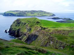 The Calf of Man seen from Cregneash, Isle of Man