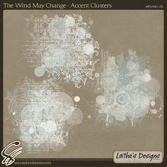 The Wind May Change - Accent Clusters :: Kit Element Bits :: Kits & Bits :: SCRAPBOOK-BYTES