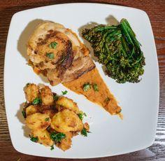Crispy Chicken Thighs with Rosemary Roast Potatoes and Sautéed Broccolini [OC][3730x3819]