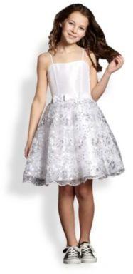 Un Deux Trois Girl's Sequin Lace Party Dress