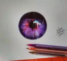 Why you gotta do this to me, artists?? How you gonna draw this incredible eye with just 3 regular ol' pens?