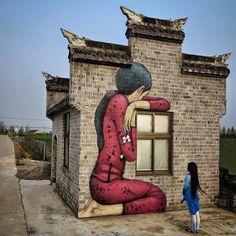 "Artist: Julien ""Seth"" Malland - Les Nouveaux ExplorateursLocation: Fengjing town, Jinshan district, Shanghai, China ~ https://www.facebook.com/arteide.org/"