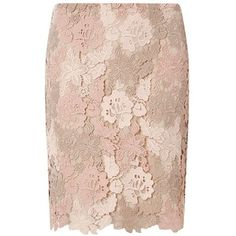 Dorothy Perkins Nude Guipure Lace Mini Skirt