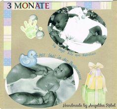 Baden in der großen Wanne  (Größe 12 x 12 cm) Kinderalbum