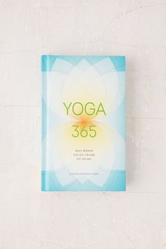 Yoga 365 presents a year's worth of daily readings that invite yoga lovers of every skill level to bring the inspiration they experience on their mats into their everyday lives. Each entry explores a mind-body theme such as balance, strength, and resilience in a short, illuminating paragraph that can be enjoyed in the morning or at bedtime, incorporated into a yoga session, or read on the go. Published by Chronicle Books (affiliate link)