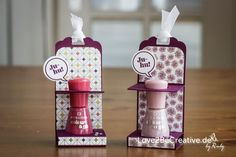"Love2BeCreative.de - by Ruby - Anleitung Nagellackhalter / Tutorial Nail Polish Holder - Anleitungen, Tutorials, Brombeermousse / Blackberry Bliss, Einfach so, Gastgeschenke, Mitbringsel, Ganz schön aufgeblasen / Just sayin', Goodies (Kleine Aufmerksamkeiten), In-Colors 2014 - 2016, Kreis 1"" (2,5cm), Stanzen / Punches, Stempelsets / Stampset, Video, Stampin Up!"
