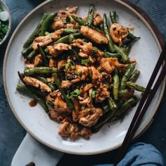 This takeout string bean chicken is so easy to make and perfect for a weekday dinner. The juicy chicken is seared in a black bean sauce with green beans. Healthy Chicken Recipes, Asian Recipes, Cooking Recipes, Ethnic Recipes, Chinese Recipes, Duck Recipes, Cookbook Recipes, Oriental Recipes, Asian Foods