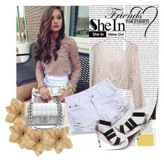"""""""Shein.com 6/8"""" by fashionb-784 ❤ liked on Polyvore featuring moda, Clips, Chanel e shein"""