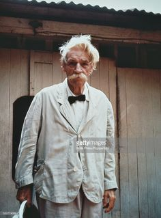 German born physician and philosopher, Albert Schweitzer pictured outside his hospital in Lambarene, Gabon circa Get premium, high resolution news photos at Getty Images Albert Schweitzer, Nobel Prize Winners, Negril Jamaica, Go Hiking, People Of The World, Old Pictures, The Guardian, Vintage Images, Cool Places To Visit