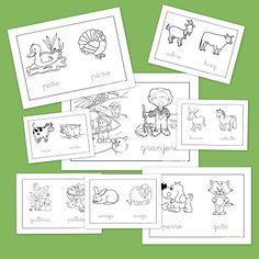 Recursos para el aula: Animales de la granja para colorear