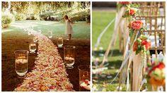 Romantic Garden Wedding Aisle Decor