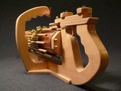 Up Close and Personal --- RotaryMek-12X Rubber Band Gun.wmv - YouTube