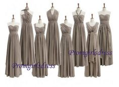 Grey Bridesmaid Dress Long Bridesmaid Dress by Promgirlsdress, $99.00 Need blue ones