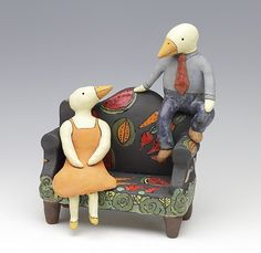 Promises saraswink.com Bird Art, Puppets, My Images, Folk Art, Arts And Crafts, Pottery, Clay, Mobiles, Artwork