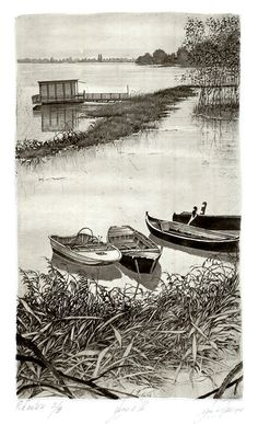 Livio Ceschin(Italian, b.1962)  Lungo il Po2006  etching & drypoint
