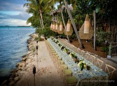 Simply breathtaking backdrop for a private dinner at Little Palm Island Resort. Planning by Simply You Key West. Flowers by Avant Gardens Miami. Gorgeous photography by Junior Gamez Photography