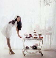 tea cart full of sweets