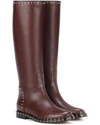 Valentino   Garavani Rockstud Leather Knee-high Boots   Lyst