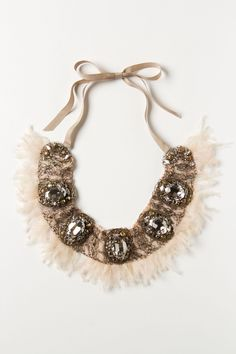 Sometimes a statement accessory is all it takes to make the perfect outfit!    Tulle Tendril Bib - from  Anthropologie